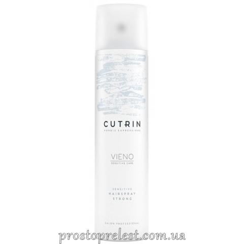 Cutrin Vieno Sensitive Hairspray Strong - Лак сильной фиксации без отдушки