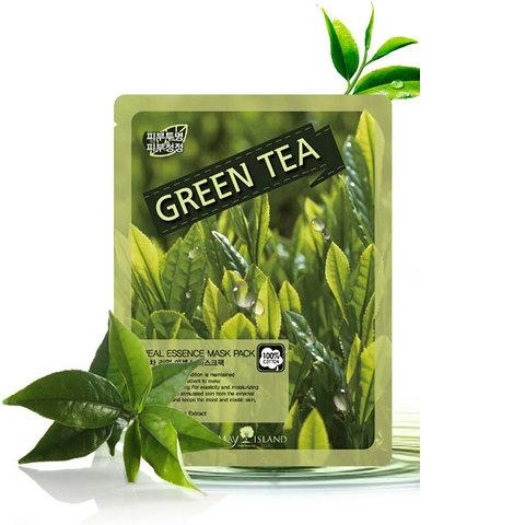 MAY ISLAND  тканевая маска с экстрактом зеленого чая