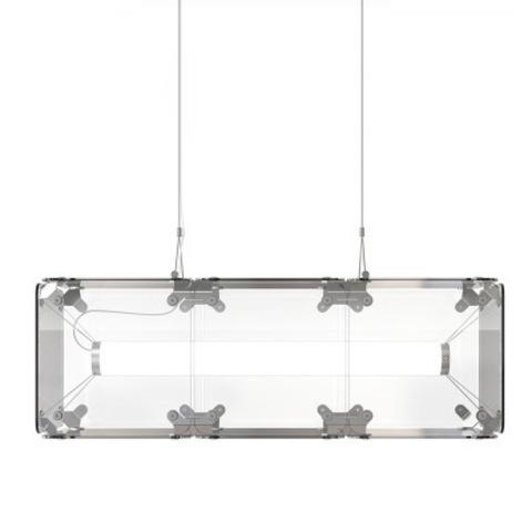 Подвесной светильник копия Hyperqube by Felix Monza (3 плафона, прозрачный)