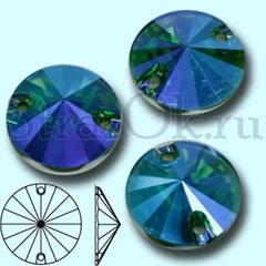 Купить стразы пришивные синие Blue Zircon AB Rivoli