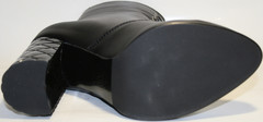 Осенняя обувь - осенние ботильоны женские. Черные ботильоны Cluchini - Black Leather.