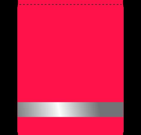 Мешок для сменной обуви 1 отд. 350х450мм Малиновый / Светоотражатель