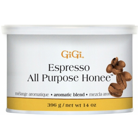 GiGi, Espresso All Purpose Honey, универсальный медовый воск с ароматом кофе, 396г