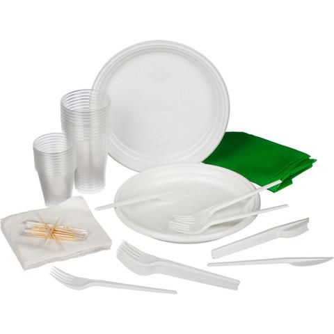 Набор одноразовой посуды На природу на 10 персон