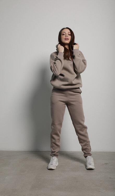 Кофейные женские брюки Basic Cotton  от компании Forstrong