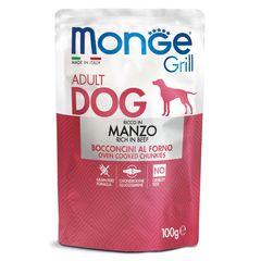 Паучи для собак Monge Dog Grill говядина