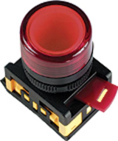 Лампа AL-22TE сигнальная d22мм прозрачн. неон/230В цилиндр TDM