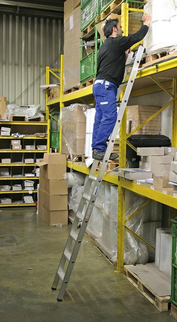 Приставная лестница STABILO 12 ступ, две пары крюков