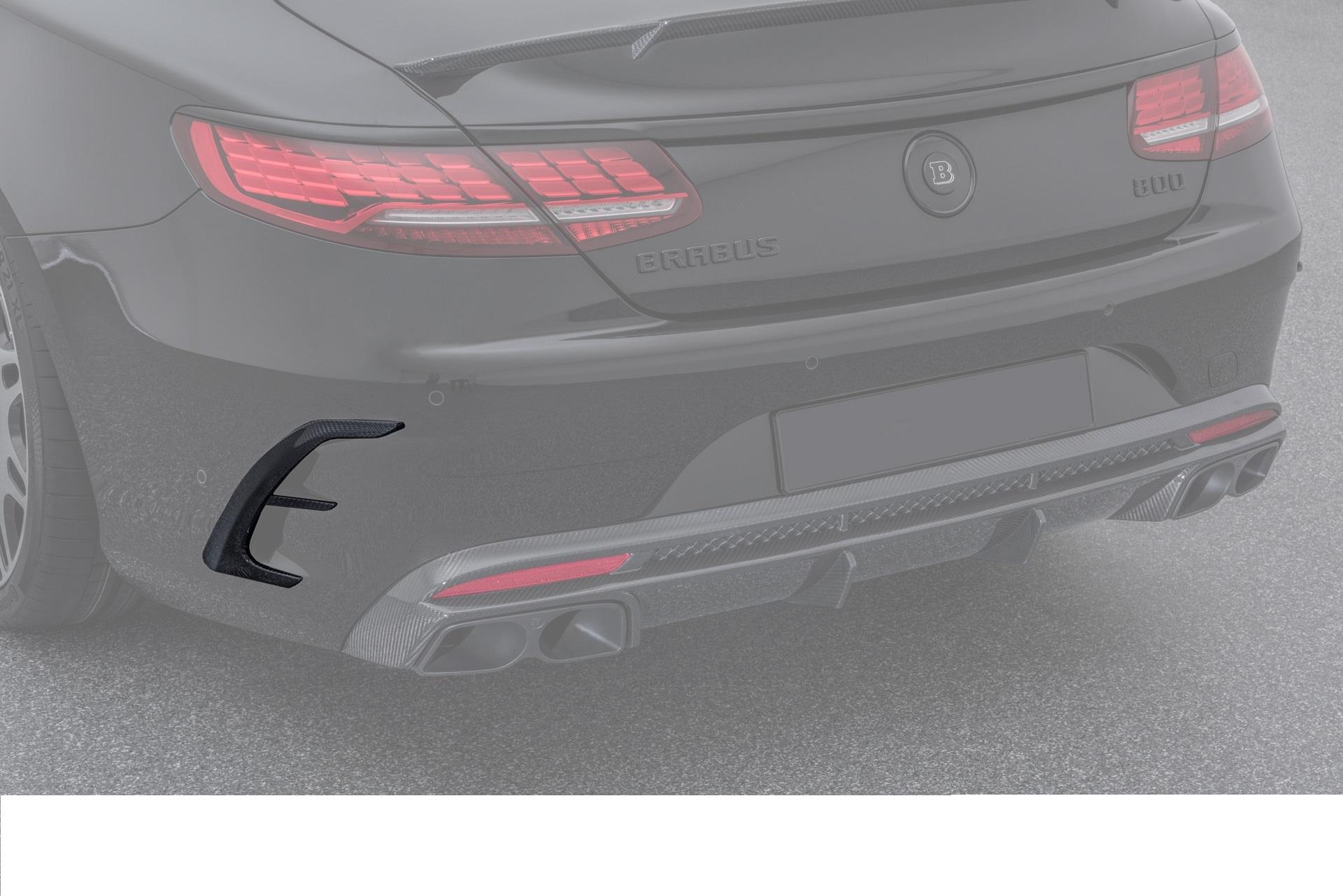 Карбоновые накладки заднего бампера S63 amg coupe c217