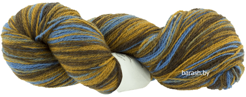 Пряжа Кауни 8/1  Brown-blue( Коричнево- голубой)