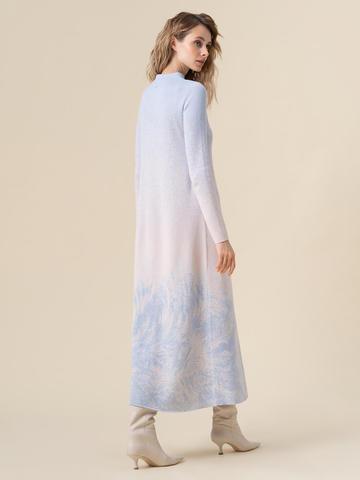 Женское платье мультиколор из кашемира и вискозы - фото 4
