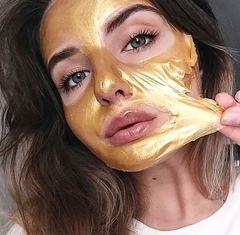 Омолаживающая золотая маска-плёнка  для лица Wokali Snail Gold Collagen, 300 гр