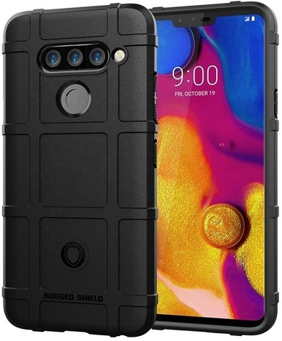 Чехол LG V40 ThinQ цвет Black (черный), серия Armor, Caseport