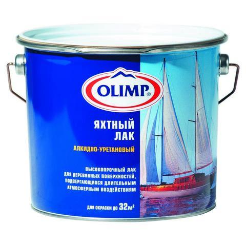 Лак яхтный Олимп п/матовый (2,7л)