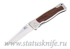 Нож Walter Brend Custom Wood inlay mirror polish