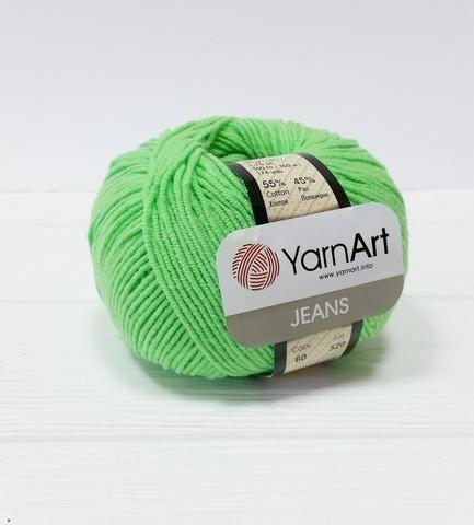 Пряжа YarnArt JEANS - (60-светло-зелёный)