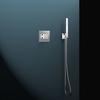 Встраиваемый смеситель для душа с душевым комплектом KUATRO K4718011 на 1 выход - фото №1