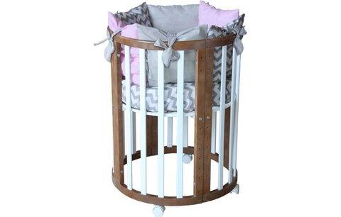 Кроватка детская Polini kids Simple 910, белый+дуб