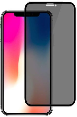 Стекло защитное iPhone X/XS Black Matte Privacy Антишпион