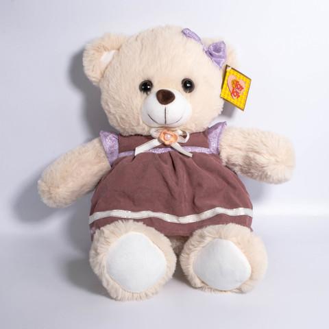 Медвежонок в платьице 25см