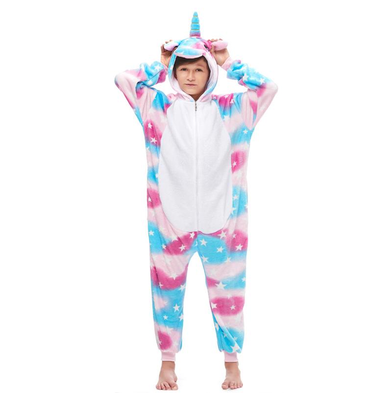 Плюшевые пижамы Единорог Небесный детский небесный.jpg