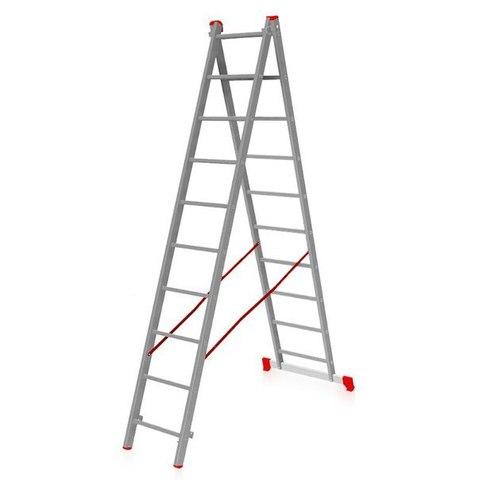 Лестница двухсекционная Новая высота 2х9
