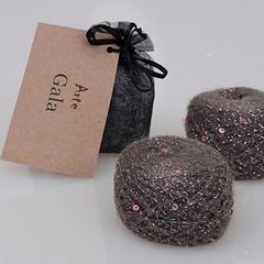 цвет 01 / полынно-серый с серебристым люрексом и розовыми пайетками