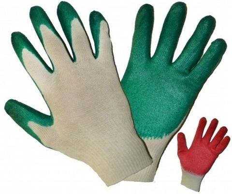 Перчатки с латексным покрытием 1 облив(10 пар)