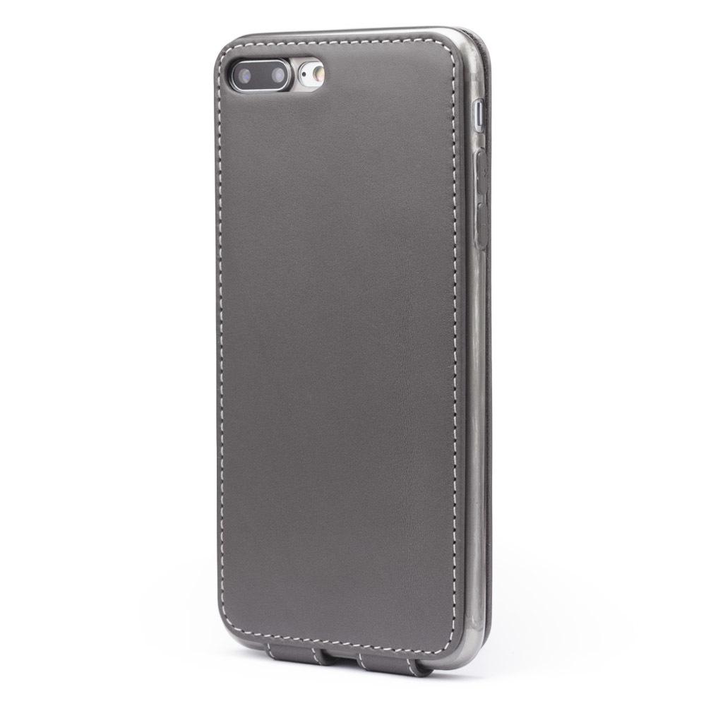 Чехол для iPhone 7 Plus из натуральной кожи теленка, серого цвета