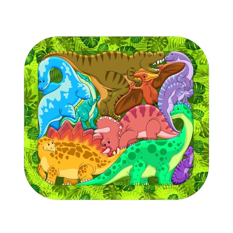 Деревянный пазл Зоопазл Динозавры Нескучные Игры 8076