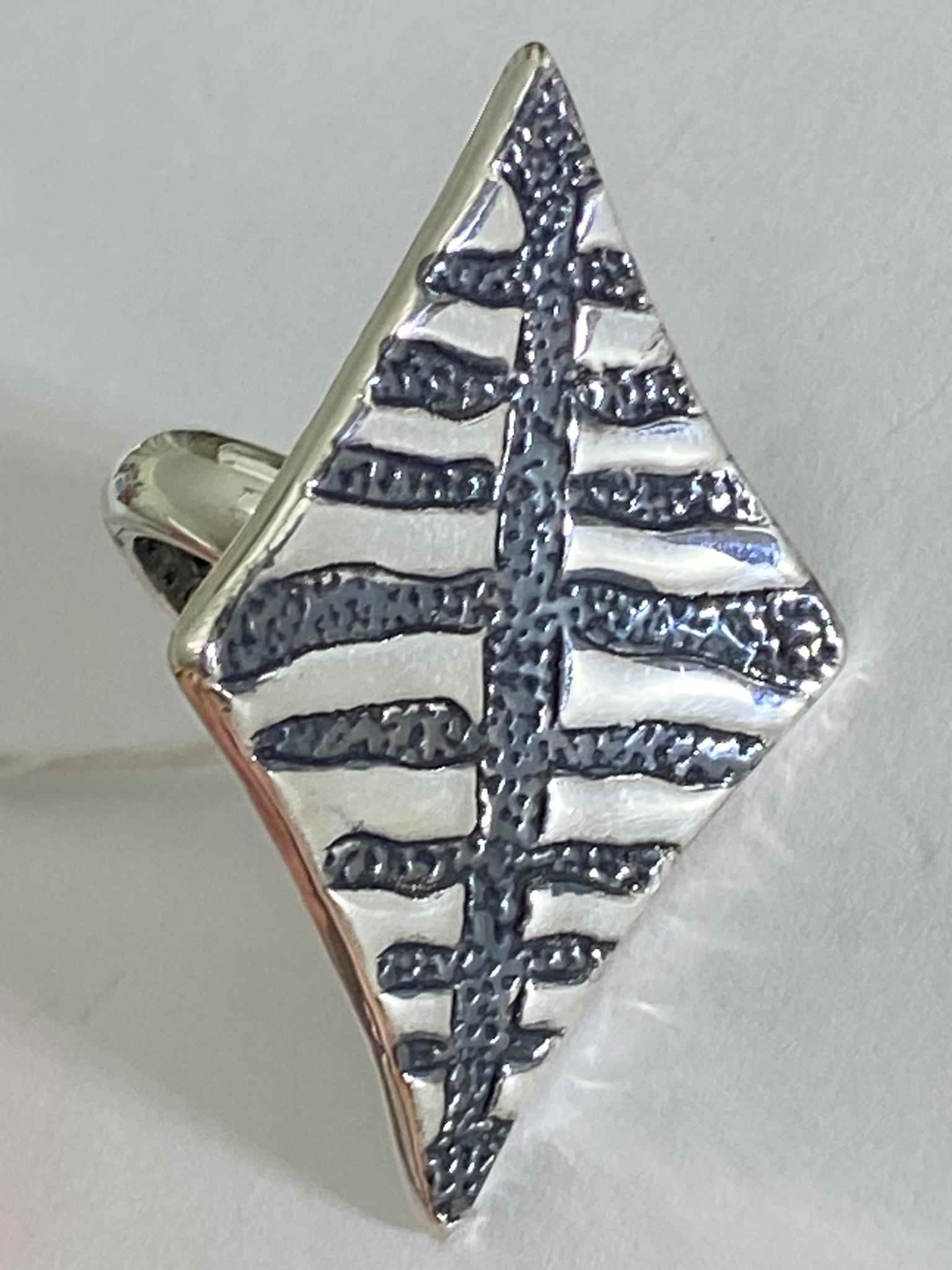 Воздушный змей (кольцо из серебра)