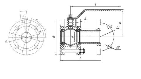 Схема 11с67п LD КШ.Р.Ф.100/080.016.Н/П.02 Ду100 стандартный проход