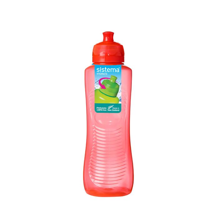 """Бутылка для воды Sistema """"Hydrate"""" 800  мл, цвет Красный"""