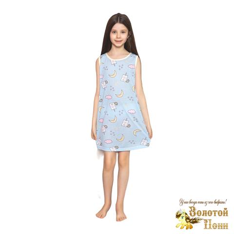 Сорочка хлопок девочке (6-14) 210318-М1140.1