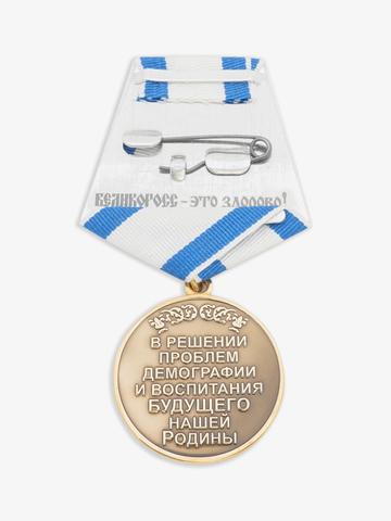 Медаль ВЕЛИКОРОСС «ЗА СТОЙКОСТЬ И ТРУД в решении проблем демографии и воспитания будущего нашей родины»
