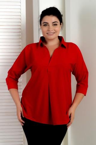 Айріс. Жіноча блуза великих розмірів. Червоний