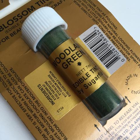 Краситель пищевой Цветочная пыльца Sugarflair Colours Зеленый WOODLAND GREEN