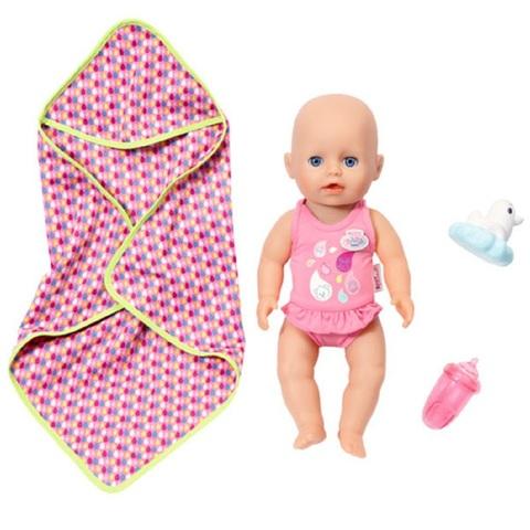 Беби Бон Кукла для игры в воде 32 см с Розовым полотенцем