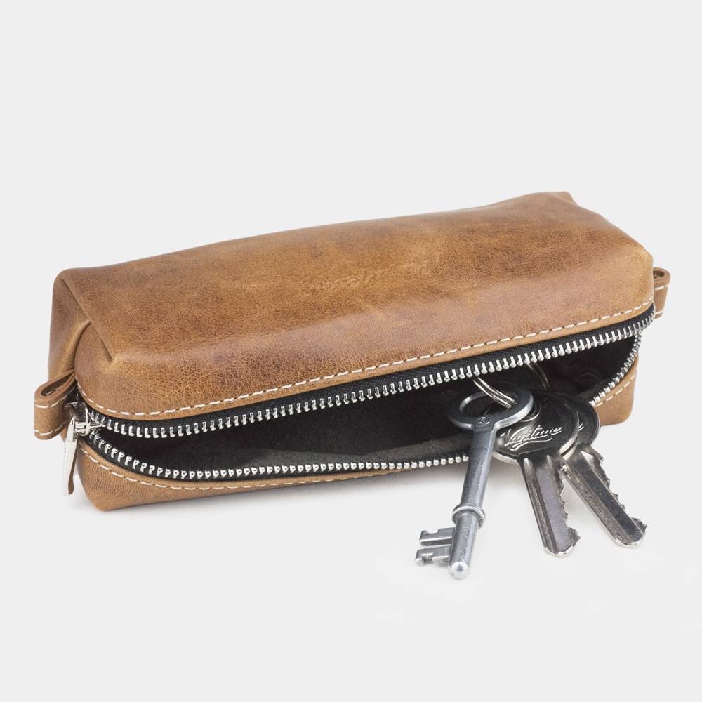Ключница Cofre Easy из натуральной кожи теленка, цвета винтаж