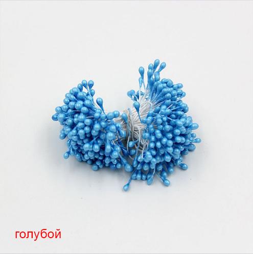 Тычинки для цветов двухсторонние, набор 10 шт., голубой