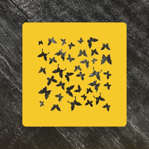 Трафарет-фон №17 Бабочки