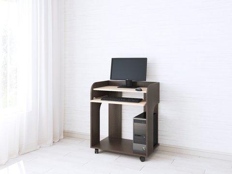 Компьютерный стол Грета-10 дуб молочный