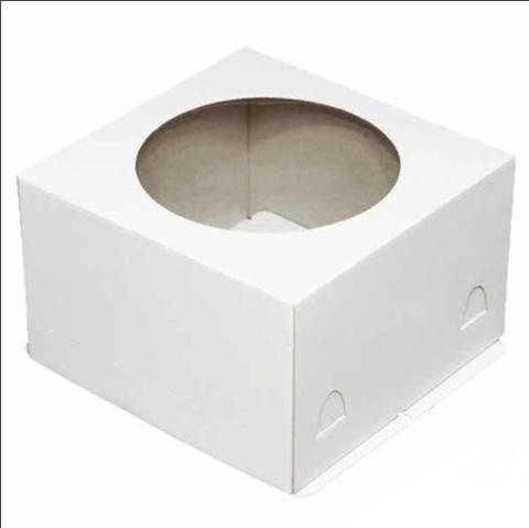 10=10. Коробка для торта 26х26х18см. (хром-эрзац), 10шт.