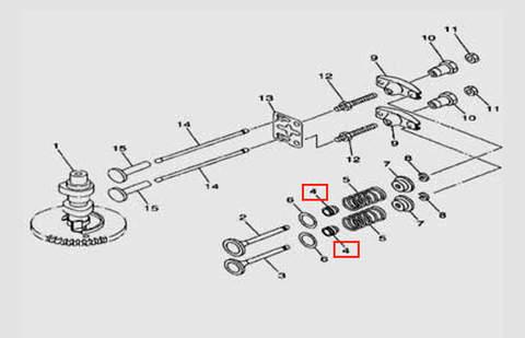 Колпачек маслосъемный для лодочного мотора F5 Sea-PRO(5-4)