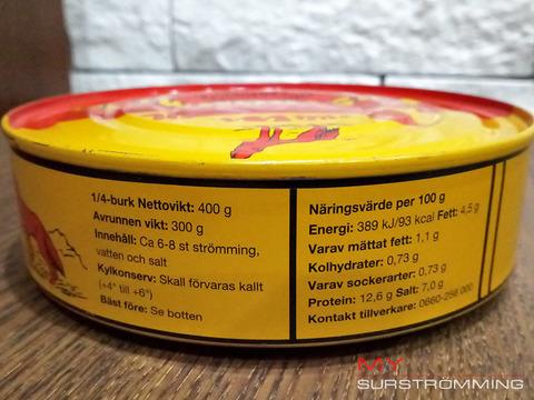 Сюрстремминг Röda Ulven фото ингридиентов