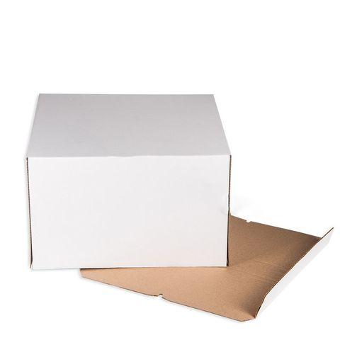 Короб белый(гофрокартон) 28*28*14см
