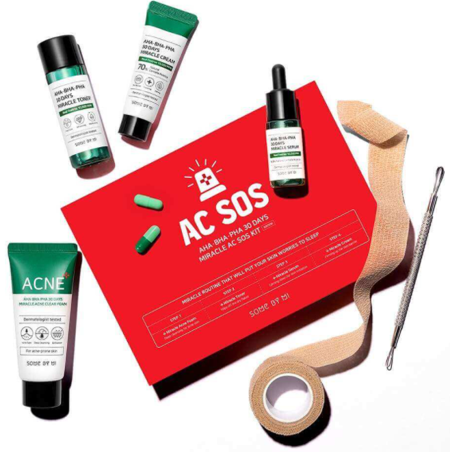 SOME BY MI Aha-Bha-Pha 30 Days Miracle AC SOS Kit набор для проблемной кожи