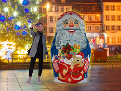 Надувная матрешка Дед Мороз