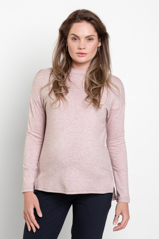 Джемпер для беременных 13083 розовый