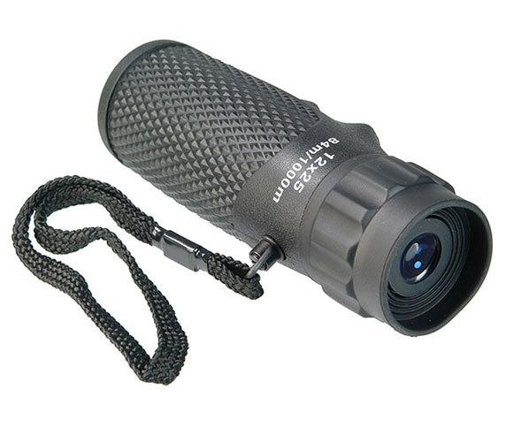 Обрезиненный корпус монокуляр Ultra Sport 12x25 с наручным ремешком